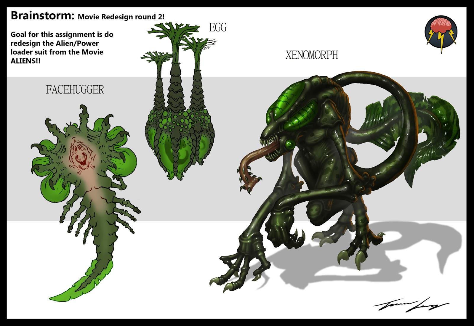 Brainstorm Alien Redesign