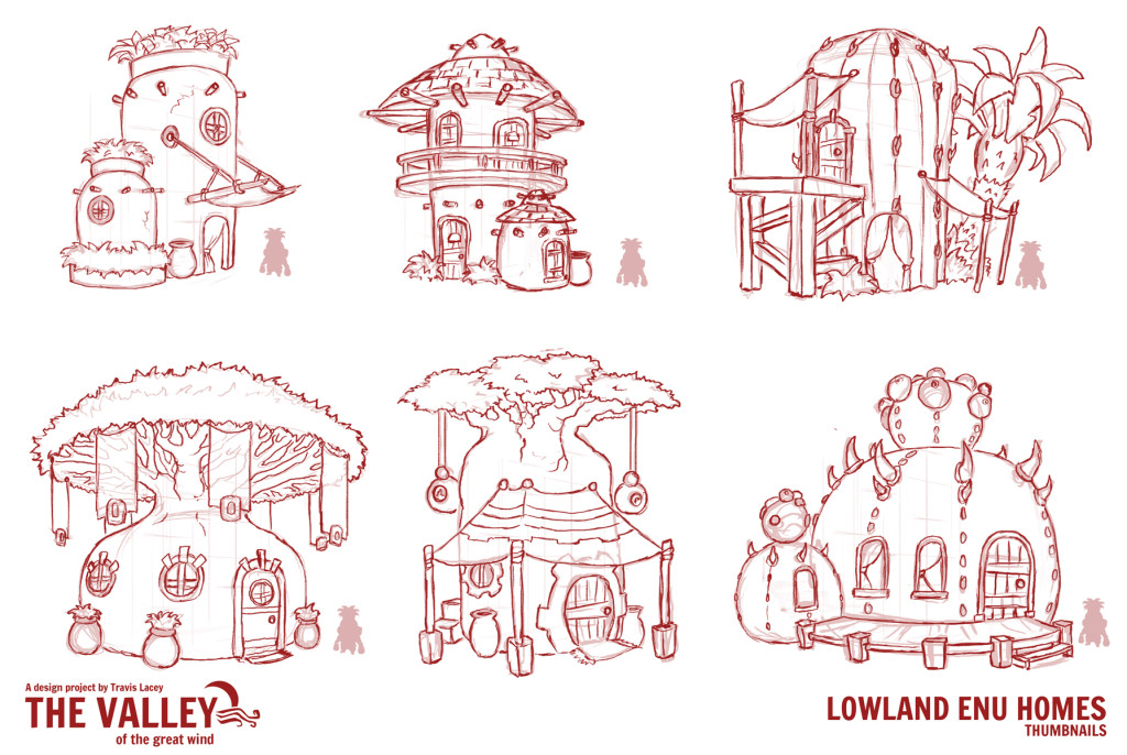 Lowland_Enu_homes_thumbnails_concept_art_design_cartoony_valley_of_the_great_wind