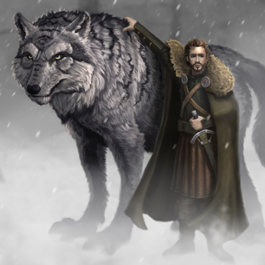 Robb Stark and Grey Wind