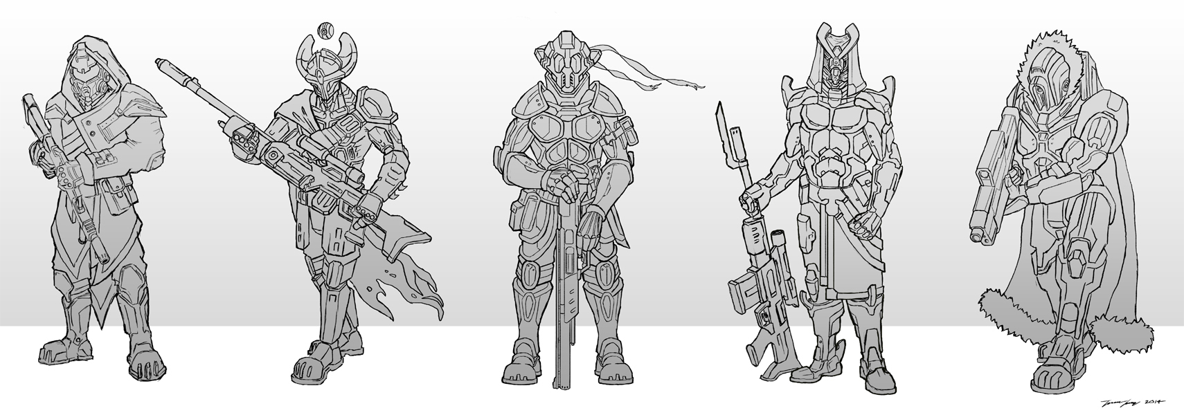 Sci_fI_Assult_soldiers_Travis_Lacey_Sketches
