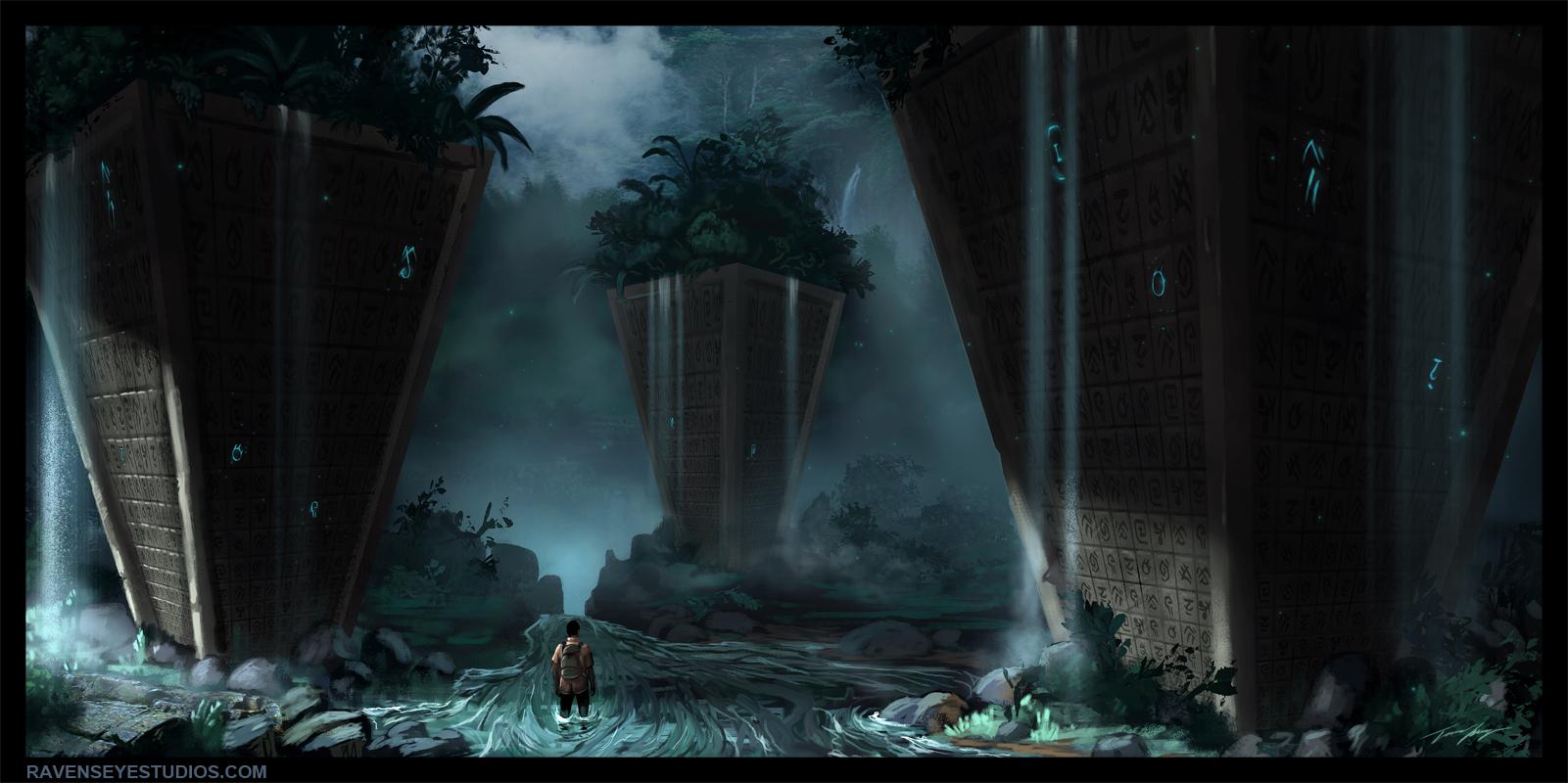 Jungle Waterfall Pylon