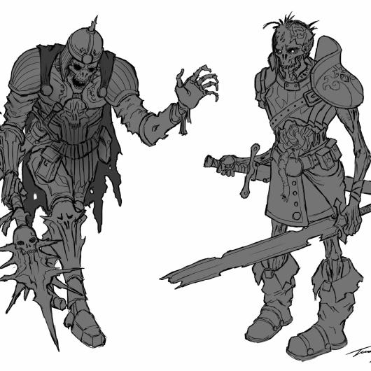 Zombie Knights Sketches